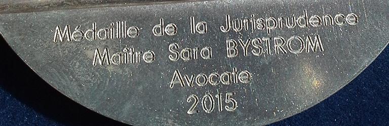 Prix de l'Académie d'architecture – prix de la jurisprudence, juin 2015